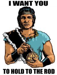 Nephi iron rod